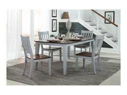 intercon small space two tone rectangular dining table with self