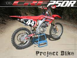 honda motocross bikes for sale 2006 honda crf250r project bike part 1 motorcycle usa