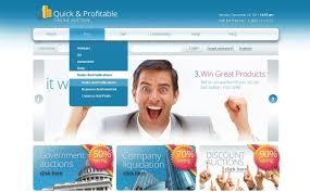 bid auction websites auction website template 39617