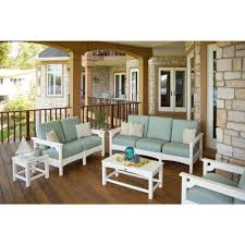 hampton bay redwood valley 5 piece patio fire pit seating set with