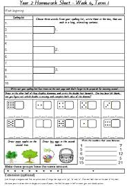 free worksheets year 2 homework sheets free math worksheets