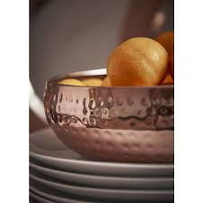 Fruit Bowl by Wilko Fruit Bowl Copper Effect At Wilko Com