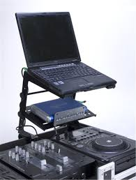 Laptop Stands For Desk by Adj American Audio Uni Lts Dj Laptop Stand With Gear Tray Pssl