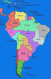 map of central and south america with country names map of south american capital cities map of south america
