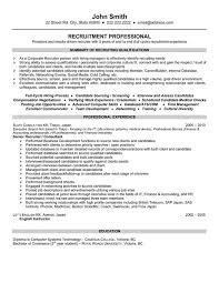 recruiter resume exle recruiter resume sle template
