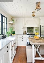 White Wood Ceiling by Cottage Farmhouse Kitchens Inspiring In White Fox Hollow Cottage