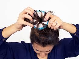 sock hair bun tutorial how to do a sock bun in 5 easy steps
