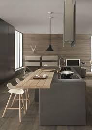 cuisine style chalet cuisine style chalet contemporain moderne et minimaliste avec ilot