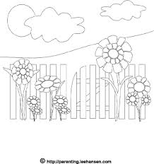 flower garden coloring printable