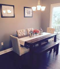 dining room table decoration ideas dining room avondale macy s table bench with fabric chairs from