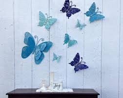 butterfly metal etsy