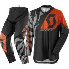 kawasaki motocross jersey scott 2017 350 race black orange gear set at mxstore