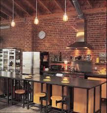 cuisine brique cuisine brique bois meilleur idées de conception de maison