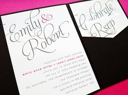 Wedding Invitation Card Cover Wording Invitation For Wedding Rectangle Black Elegance Hard Cover With