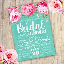 bridal luncheon invitations bridal shower luncheon invitation template edit with adobe