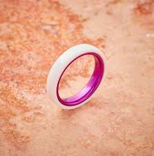 4mm ring embr white ceramic ring resilient purple 4mm