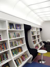 modern home library interior design library nook manifest chicago curved walls wall