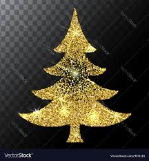 tree gold glitter background eps vector image