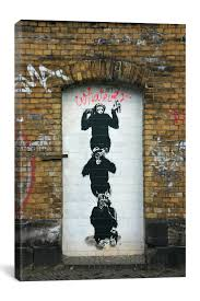676 best banksy images on pinterest urban art banksy art and monkey business by banksy canvas print