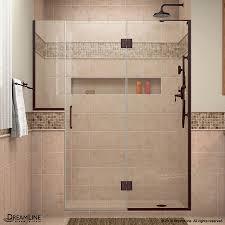 Oil Rubbed Bronze Frameless Shower Door by Shop Dreamline Unidoor X 72 In To 72 5 In W Frameless Oil Rubbed