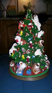 Danbury Mint Bulldog Christmas Tree