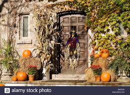 Pictures Of Houses Decorated For Halloween by Canada Quebec Province Montreal Outremont District In Autumn