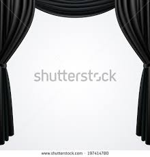 Drapes Black And White Black Curtains Drapes Isolated On White Stock Vector 197414780