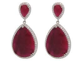 ruby drop earrings earthy drop ruby earrings rubies earrings