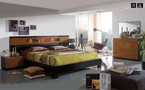 Black Shiny Bedroom Furniture Made In Spain Wood Modern Design Bed Set With Extra Storage Durham