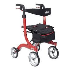 senior walkers with wheels nitro 4 wheel rollator height