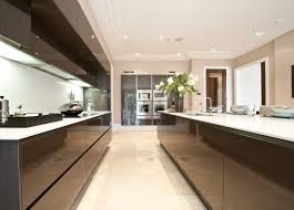 extreme linear balanced minimal kitchen design in private