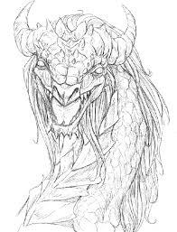 big dragon sketch by hibbary on deviantart