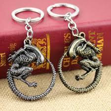 round key rings images High quality avp aliens predator keychain antique sliver bronze jpg