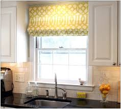 Kitchen Cabinets With Windows Awesome Kitchen Valances Yellow Curtain White Mirror Window With