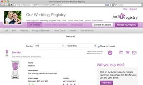 create your own wedding registry free online bridal registry just1registry