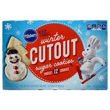 pillsbury winter pre cut sugar cookies shop cookie dough
