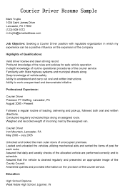 Resume Sample Caregiver Position by Sample Courier Delivery Driver Resume Sample And Job Title Expozzer