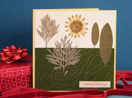 make a pressed flower christmas card dried flower crafts