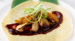 cuisine crepe peking duck pancakes recipe with crispy duck