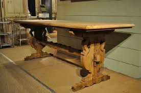 trestle tables for sale french vintage bleached oak trestle table with inlaid top sold