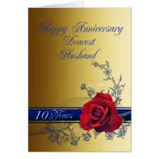 10th wedding anniversary cards invitations zazzle co uk