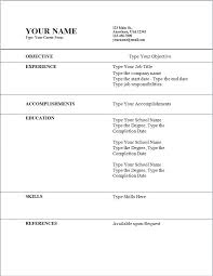 Basic Sample Of Resume by Free Basic Resume Templates Microsoft Word Resume Template 1000