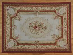 Chinese Aubusson Rugs 8 U0027 X 11 U0027 Aubusson Floral Design Handmade Flat Weave Oriental Rug