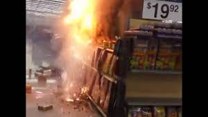 idiots light a firework display inside walmart youtube