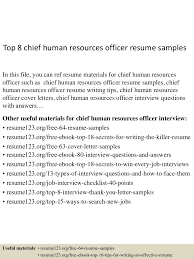 human resource management resume examples top8chiefhumanresourcesofficerresumesamples 150515024620 lva1 app6892 thumbnail 4 jpg cb 1431658027