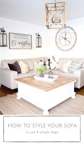 How To Style A Sofa In Just 4 Simple Steps Making It In The