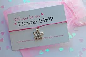 will you be my flower girl gifts childs will you be my flower girl wish bracelet wedding invitation