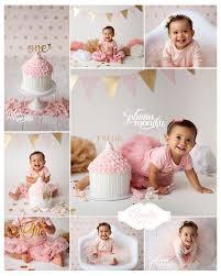 white gold pink first birthday cake smash smash cake