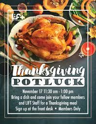 thanksgiving potluck the lift