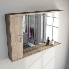 Oak Bathroom Mirrors - sienna oak bathroom mirror with lights 1200mm victoriaplum com